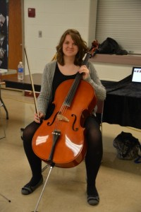 Senior Jordan Proffitt's Senior Project was to learn to play the cello.