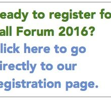 Fall Forum Early Reg Ends Friday, Oct. 7
