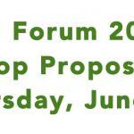Fall Forum Workshop Proposal Deadline
